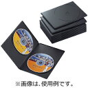 エレコム スリムDVDトールケース(2枚収納/10枚セット)「ブラック」 CCD‐DVDS06BK