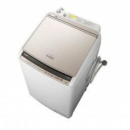 日立 縦型洗濯乾燥機 「<strong>ビートウォッシュ</strong>」 [洗濯10.0kg/乾燥5.5kg/ヒーター乾燥(水冷・除湿タイプ)] BW−DV100E−N シャンパン(標準設置無料)