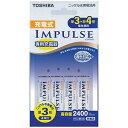 東芝 充電器セット(単3形4本セット)「充電式IMPULSE」 TNHC‐34AH