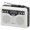 オーム電機 デジタル録音ラジオカセット Audio Comm CAS-381Z