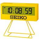 セイコー 目覚まし時計 「ミニスポーツタイマー」 黄色 SQ817Y
