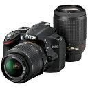 【ポイント2倍】ニコン デジタル一眼レフカメラ「D3200」ダブルズームキット D3200WZ(BK)<ブラック>【送料無料】