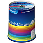 三菱化学 データ用DVD−R(1−16倍速対応/4.7GB)100枚スピンドルケース DHR47JP100V3