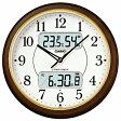 CASIO 壁掛け時計 ITM−800NJ−5JF (濃茶木調)【送料無料】