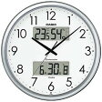 CASIO 壁掛け時計 ITM−650J−8JF (シルバー)【送料無料】
