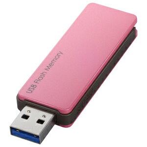 バッファロー USB3.0対応 USBメモリー キャップレス(32GB) RUF3‐PW32G‐PK (ピンク)