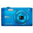 ニコンコンパクトデジタルカメラCOOLPIX S3600<コバルトブルー>【送料無料】