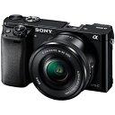 ソニー ミラーレス一眼カメラ「α6000」パワーズームレンズキット ILCE−6000L/B (ブラック)(送料無料)