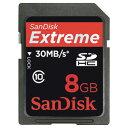 【ポイント2倍】サンディスク【在庫処分】SDHCカード<8GB>SDSDX3008GJ31A