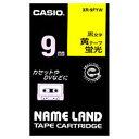 CASIO ネームランド テープカートリッジ (蛍光テープ9mm) XR‐9FYW (蛍光イエロー×黒文字)