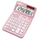 シャープ ナイスサイズタイプ電卓 「電卓50周年記念モデル」(12桁) EL‐VN82‐PX (エレガントピンク)