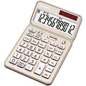 シャープ ナイスサイズタイプ電卓 「電卓50周年記念モデル」(12桁) EL‐VN82‐NX (シャンパンゴールド)