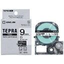 キングジム カラーラベルテープ 「テプラPRO」(白テープ/黒文字/9mm) SB9S (白)