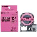 キングジム カラーラベルテープ 「テプラPRO」(蛍光ピンクテープ/12mm幅) SK12P (蛍光ピンク)