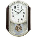 セイコー 電波アミューズ時計 茶マーブル模様 AM264B