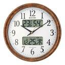 シンプル 洋風 北欧 温度計 電波時計 カレンダー ライト ...