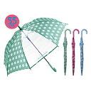 送料無料 キッズ 傘 女の子 55cm 傘 子供用 傘 ジャンプ傘 女児 窓付きコインドット