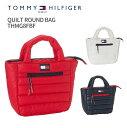 【雑誌掲載】トミーヒルフィガーゴルフ QUILT ROUND BAG THMG8FBF2018年秋冬モデル 新作TOMMY HILFIGER GOLFキルトラウンドバッグバッ..