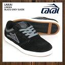 LAKAI/ラカイ[LINDEN]BLACK/GREY SUEDE 【スケボー】【デッキ】【スケシュー】【スケートボード】【スケボーシューズ】【lakai】【スニーカー】