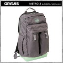 Gravis/グラビス リュック バッグ METRO 2 GUNMETAL GREEN ASHL メトロ2 ガンメタル デイパック バックパック カバン