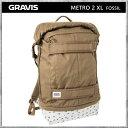 Gravis/グラビス リュック バッグ METRO 2 XL FOSSIL メトロ2XL フォシル メトロ2 ガンメタル デイパック バックパック カバン