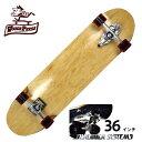 WOODY PRESS ウッディプレス サーフスケート スラスター3 コンプリート 36インチ NATURAL WPC-001 ロングスケボー スケートボード ...
