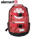 Element/エレメント キッズ リュック バックパック スケートバッグ MINI MIHAVE GEO RED バッグ カバン スケートボード