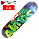 ALMOST オールモスト デッキ BLOTCHY GREEN DECK 8.0 AMD-272:スケートボード SKATEBOARD スケボー
