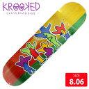 KROOKED クルーキッド デッキ PET KLUB FULL SHAPE DECK 8.06 KKD-263 スケートボード SKATEBOARD クルキッド