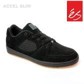 es/エス スケートシューズ スニーカー アクセル ACCEL SLIM BLK BLK GUM アクセル スリム スケシュー スケボーシューズ スケートボード