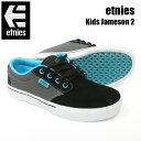ETNIES エトニーズ スニーカー KIDS JAMESON2 EC BK/GY/BL スケシュー スケートシューズ ジュニア キッズ J