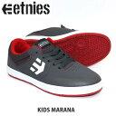 ETNIES エトニーズ スニーカー KIDS MARANA GY/RD/WT ジュニア キッズ スケートシューズ スケシュー