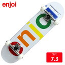 コンプリート ジュニア スケボー エンジョイ SPECTRU M WHITE DECK 7.3 インチ EJC-015 完成品 スケートボード
