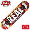 コンプリート REAL リアル NEW OOZE MED デッキサイズ 7.75インチ RAC-190 完成品 組立て済 スケートボード ス...