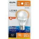 エルパ LED電球 ミニクリプトンタイプ 25W形 E17 電球色 LDA4L-H-E17-G407(1コ入)