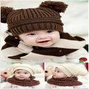 ベビー服 赤ちゃん服 キッズ服 子供服 帽子 ハット ウール キャップ ニット帽 ポンポン くま クマ 熊 セール sale