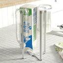 山崎実業 グラススタンド プレート キッチンエコスタンド ホワイト 6783 | コップ立て ポリ袋ホルダー ペットボトル 乾かす