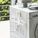 山崎実業 ハンガー収納 タワー マグネット洗濯ハンガー収納ラック S ホワイト 3690 | 収納フック 洗濯機横 ランドリー収納 マグネット