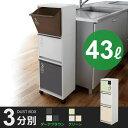 ゴミ箱 分別 スリム 3段 縦型 ダストボックス 限定生産カラー ( キッチン ふた付き 分別ごみ箱 )