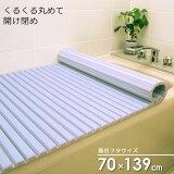 シャッター風呂ふた(70×140cm用) ブルー M14