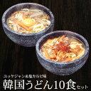 韓国うどん10食セット(塩カルビスープ味×5食、ユッケジャン...