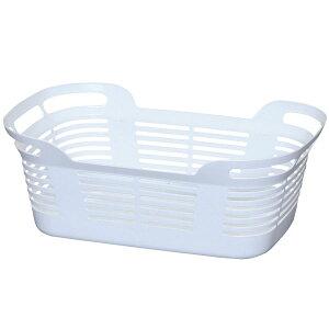 オフタイム ランドリー バスケット ホワイト アイリスオーヤマ プラスチック