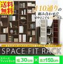 【送料無料】【アイリスオーヤマ】収納棚 ラック スペースフィットラック(幅30×奥行29×高さ150cm) S-SFR1530 シェル…