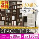ディスプレイラック 収納棚送料無料 スペースフィットラック(幅80×奥行29×高さ150cm)