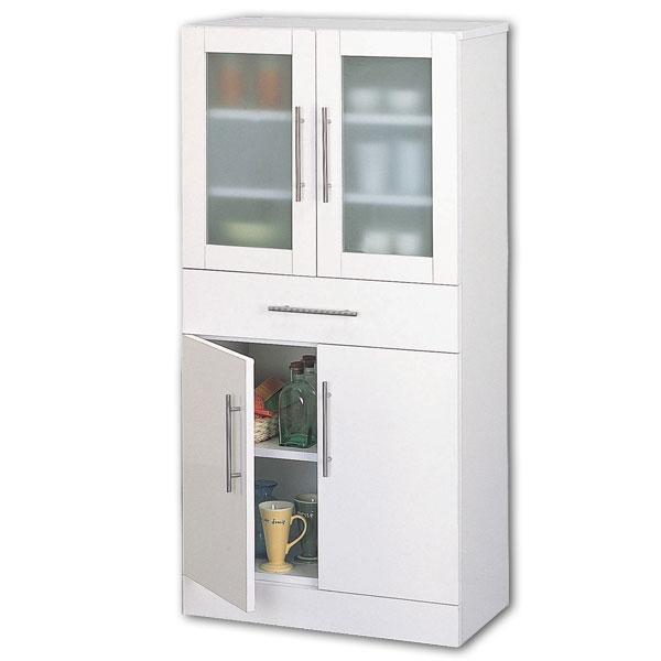 【送料無料】【TD】カトレア・食器棚60-120 23463キッチン収納 リビング収納 皿収納 食器収納【代引不可】【クロシオ】