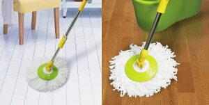 LOCOLOCO(ロコロコ)回転モップブルー・イエロー・グリーンBGO-18-BL・BGO-18-YL・BGO-18-GR【HW】【D】〔モップ掃除用品大掃除マイクロファイバースペアモップ水拭き乾拭き〕