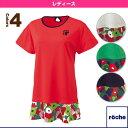 [ローチェ(roche) テニス・バドミントンウェア(レディース)]レディースゲームシャツ/レディース(R6S31V)
