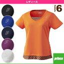 [プリンス テニス・バドミントンウェア(レディース)]ゲームシャツ/レディース(WL6082)