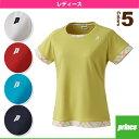 [プリンス テニス・バドミントンウェア(レディース)]ゲームシャツ/レディース(WL6092)