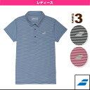 [バボラ テニス・バドミントン ウェア(レディース)]ゲームシャツ/レディース(BAB-1743W)